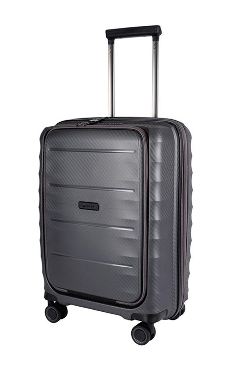 Boston Polypropyle 4 Wheel Suitcase - Cabin - silver