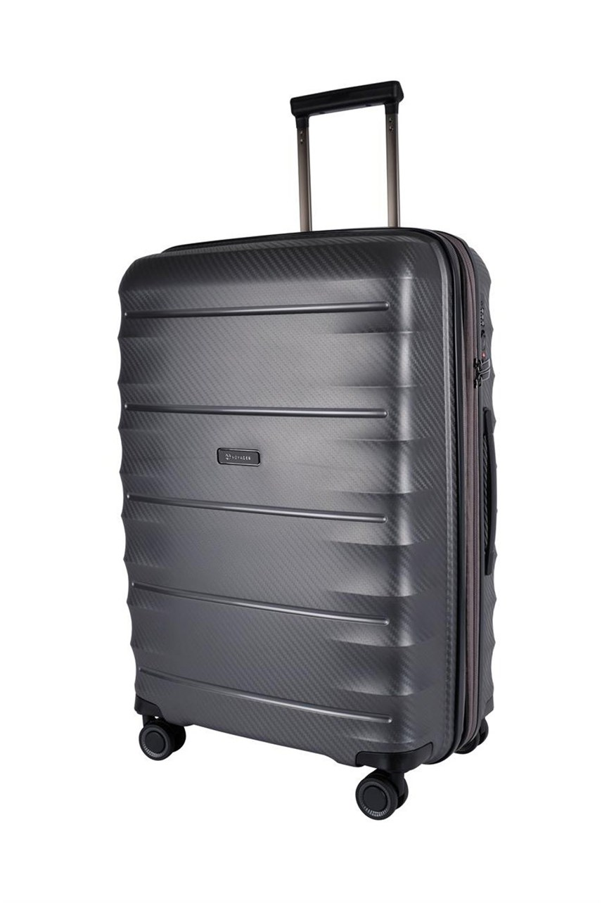 Boston Polypropyle 4 Wheel Suitcase - Medium