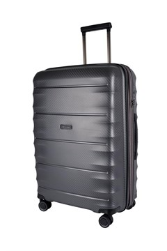 Boston Polypropyle 4 Wheel Suitcase - Medium SILVER 1