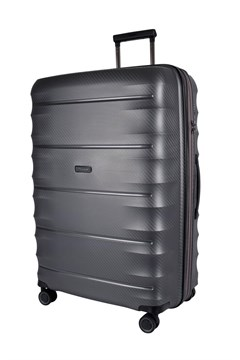 Boston Polypropyle 4 Wheel Suitcase - Large SILVER 1