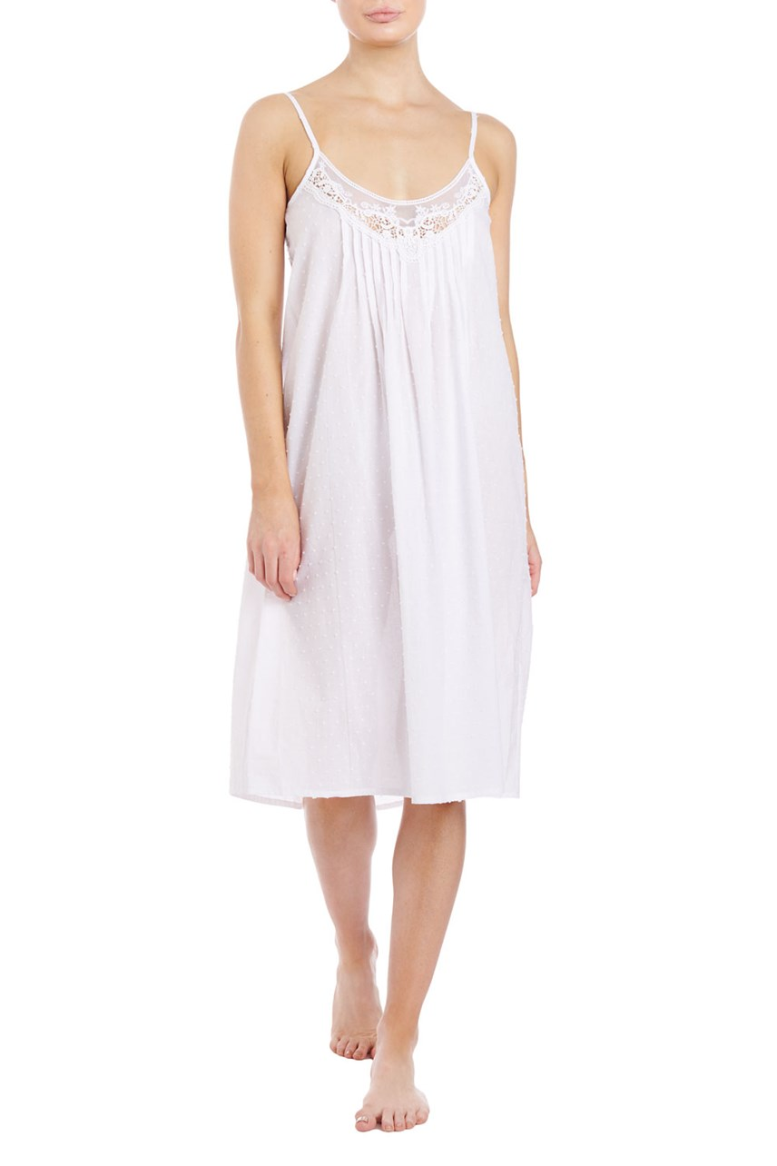 Plain Cotton Short Nightie