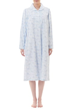 Jewel Flannelette Midlength Nightie BLUE 1