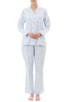 Jewel Flannelette Long Pyjama Set BLUE 1