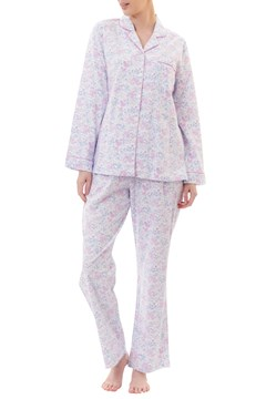 Kitty Flannelette Long Pyjama Set - pink