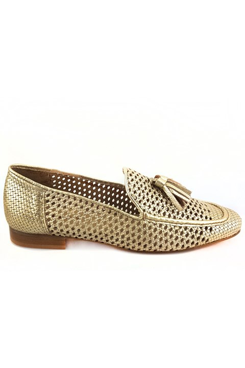 Weave Loafer - gold