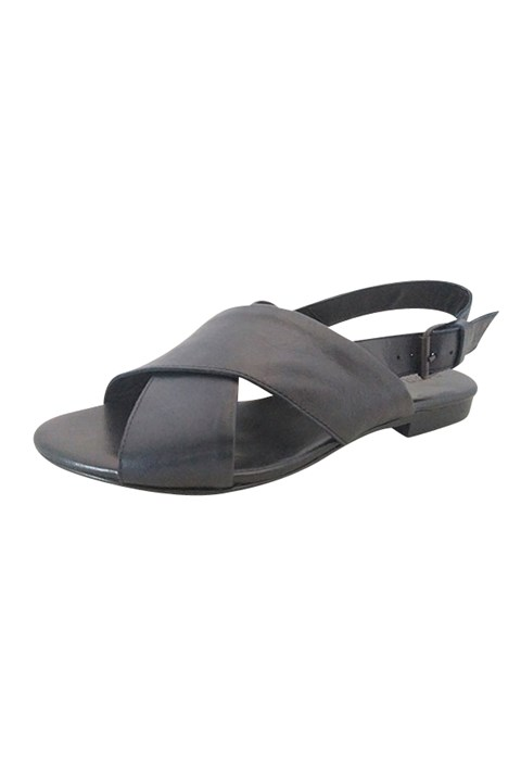 Omega Leather Sandal - navy