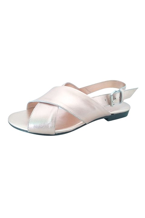 Omega Leather Sandal - rose gold