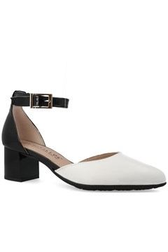 Ankle Strap Block Heel NUDE BLACK 1