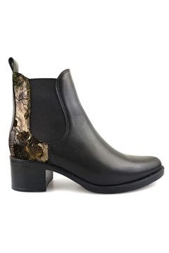 Ankle Boot With Elastic BLACK PATENT 1