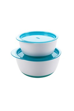 Tot Small & Large Bowl Set - aqua