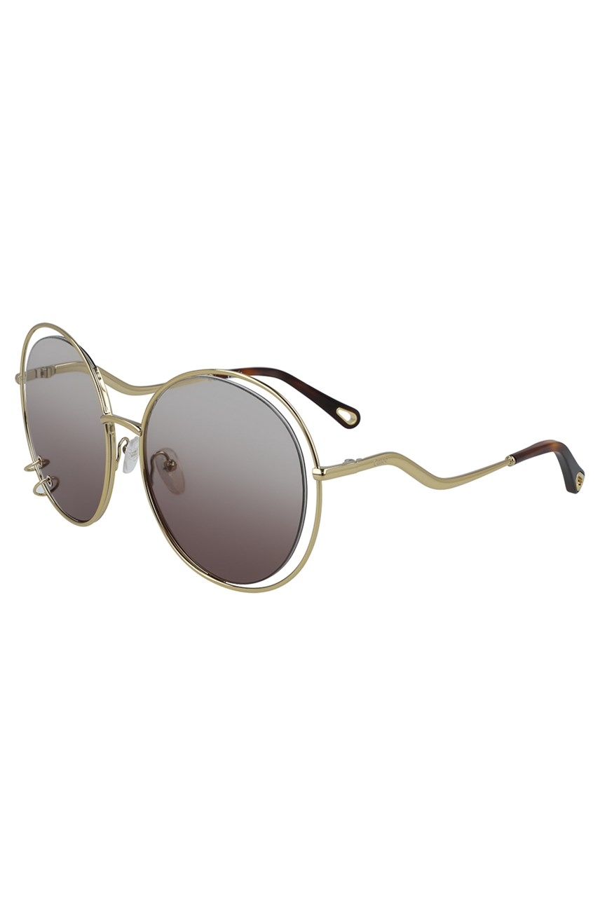 Oversized round metal frame Sunglasses