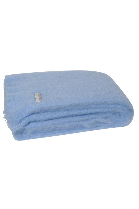 Windermere Mohair Throw - sky