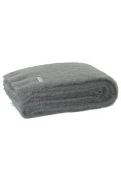 Windermere Mohair Throw SLATE 1