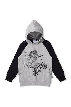 Wheelie Furry Hoodie GREY/BLACK 1
