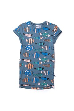 Fish Life Tee Dress MUTED BLUE 1