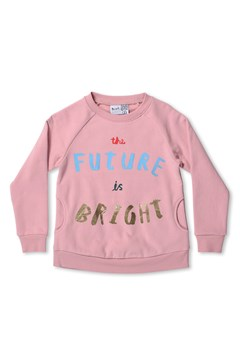 The Future Is Bright Furry Crew - muted pink