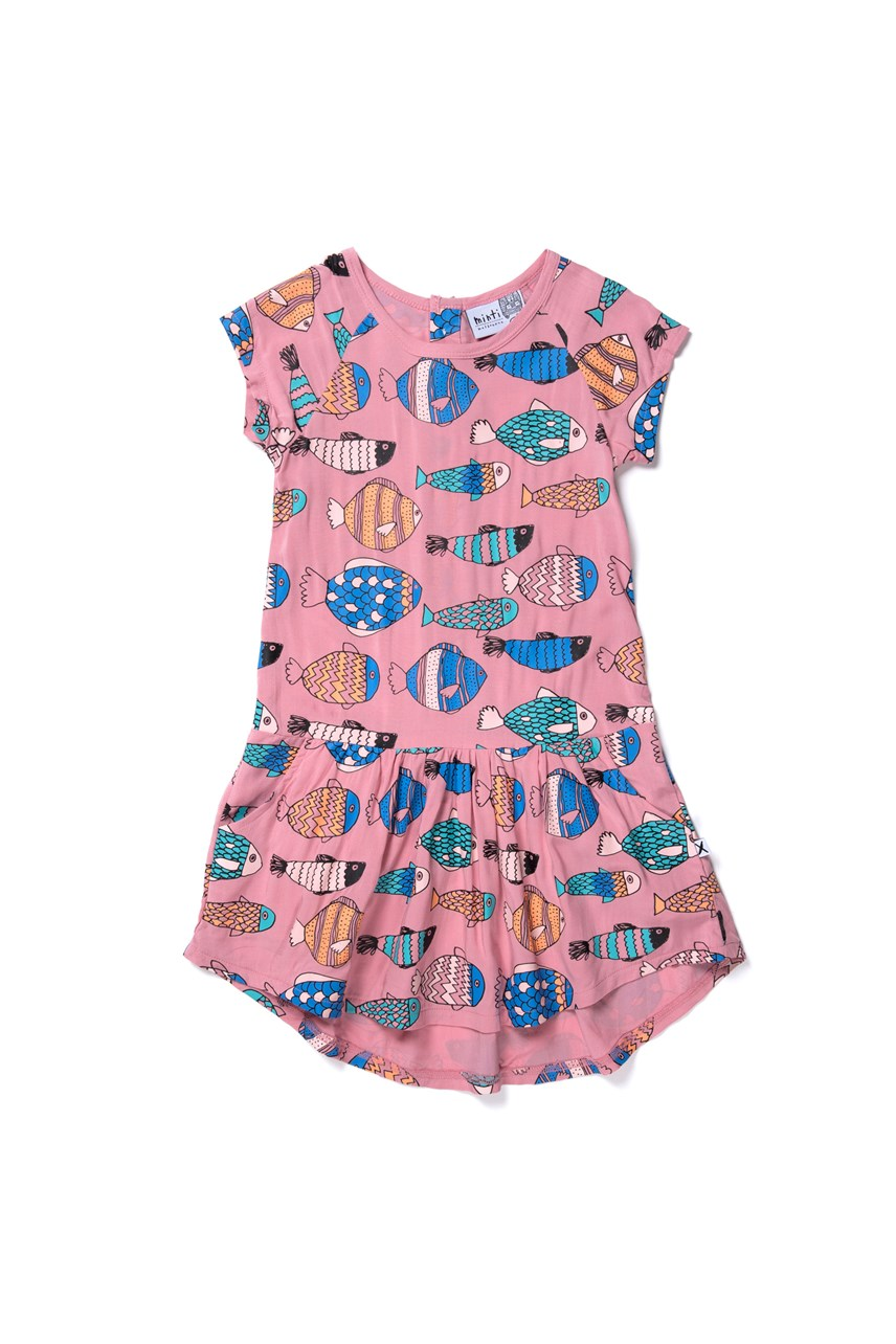 Fish Life Woven Dress