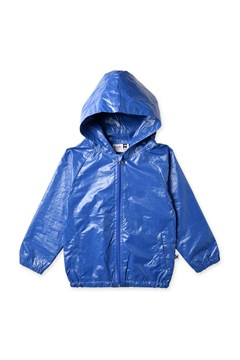 High Shine Anorak - electric blue