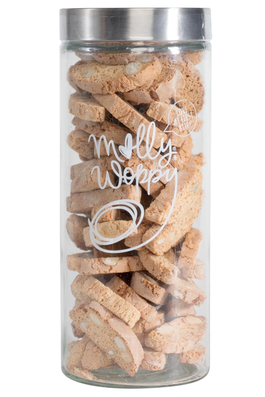 Ginger, Almond & Brazil Nut Biscotti Canister