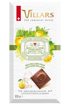 Swiss Milk Chocolate Bar Filled With Williams Pear Liquor 1