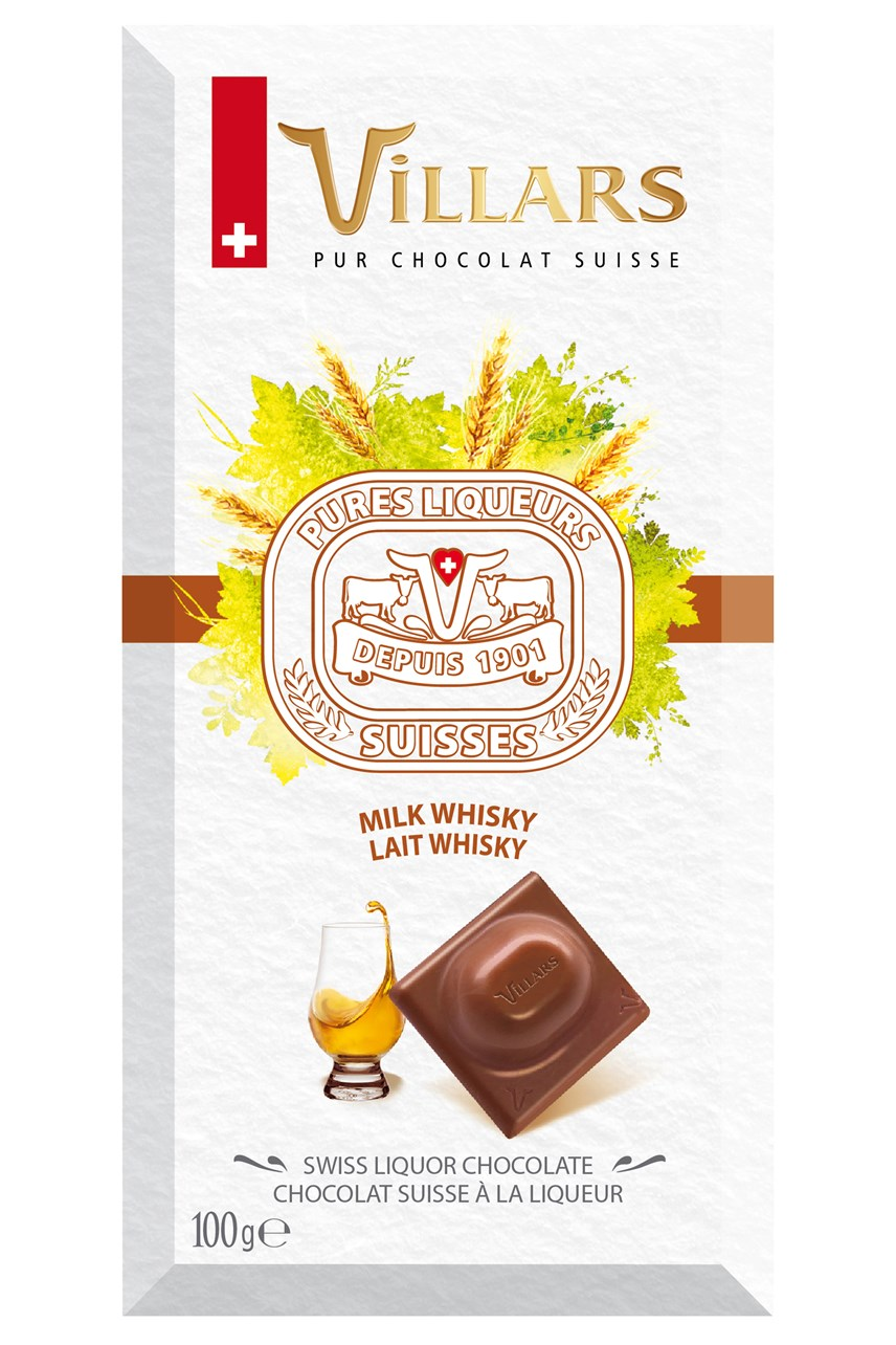 Swiss Milk Chocolate Bar Filled With Whisky