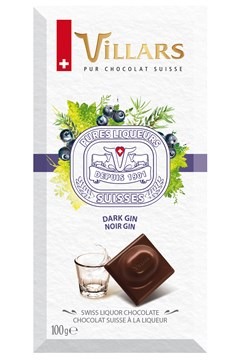Swiss Dark Chocolate Bar Filled With Gin 1