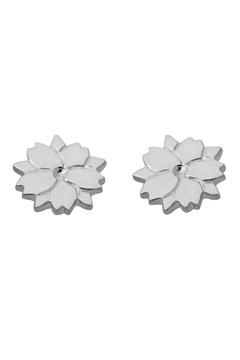 'Cherry Blossom' Stud Earrings SILVER 1