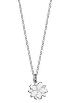 'Cherry Blossom' Charm Necklace SILVER 1