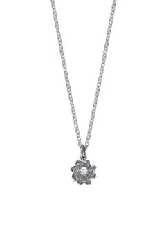 'Protea' Charm Necklace SILVER 1