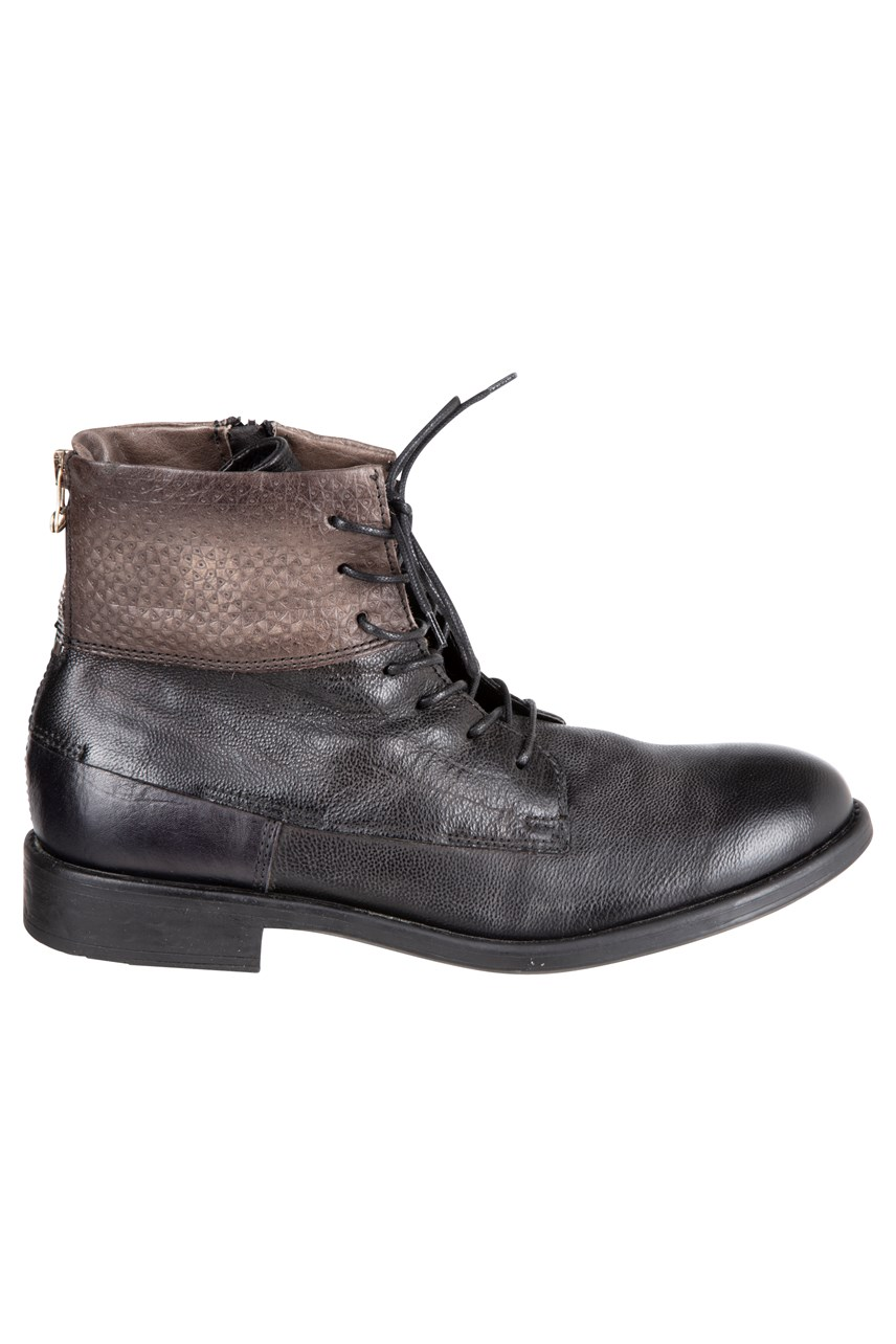 Lace Up Leather Boot