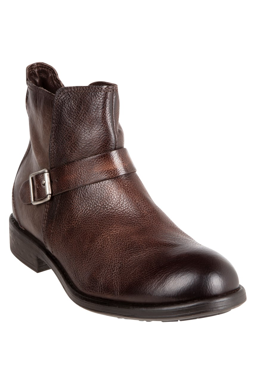 Buckle Strap Leather Boot