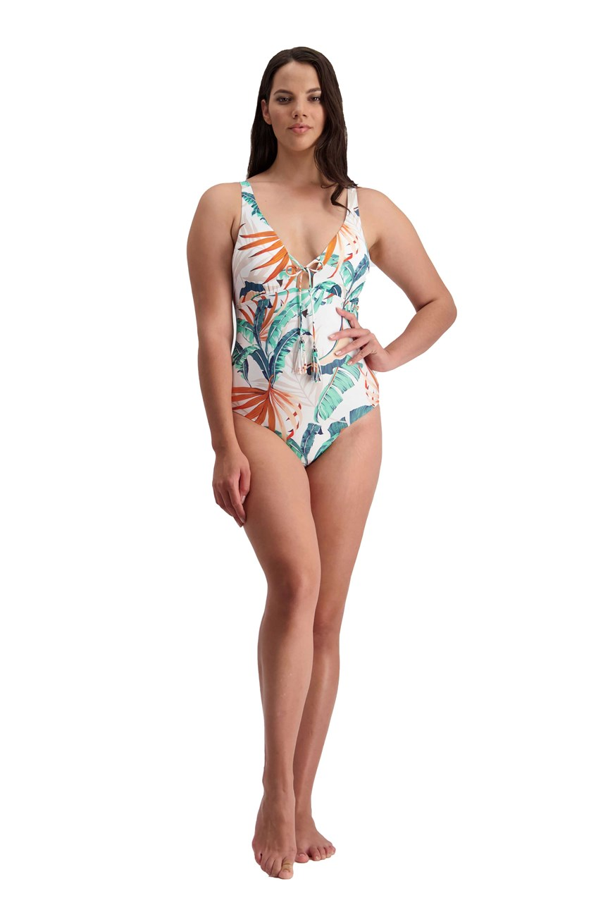 Tropical Vibes Plunge Swimsuit