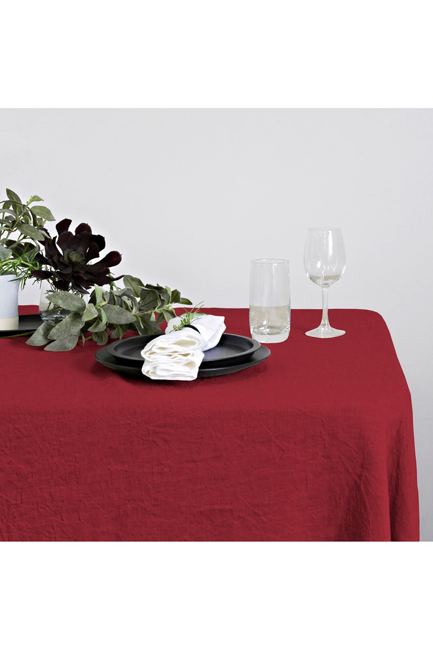 Linen Table Cloth - Red