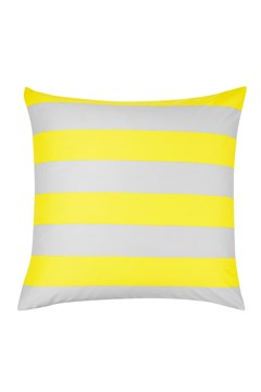'Wide Stripe' European Pillowcase Yellow 1