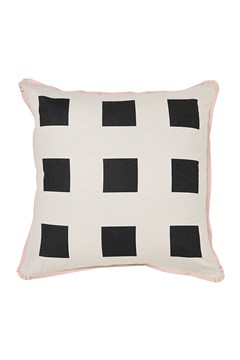 'Big Squares' European Pillowcase Graphite 1