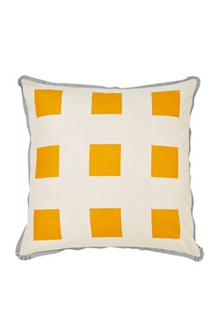 'Big Squares' European Pillowcase Tangerine 1