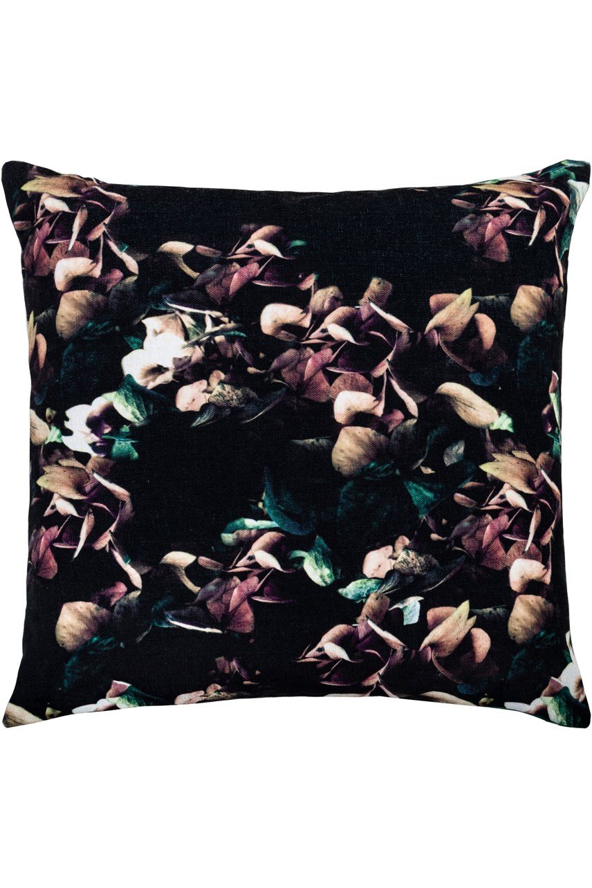 Flower Print Filled Cushion