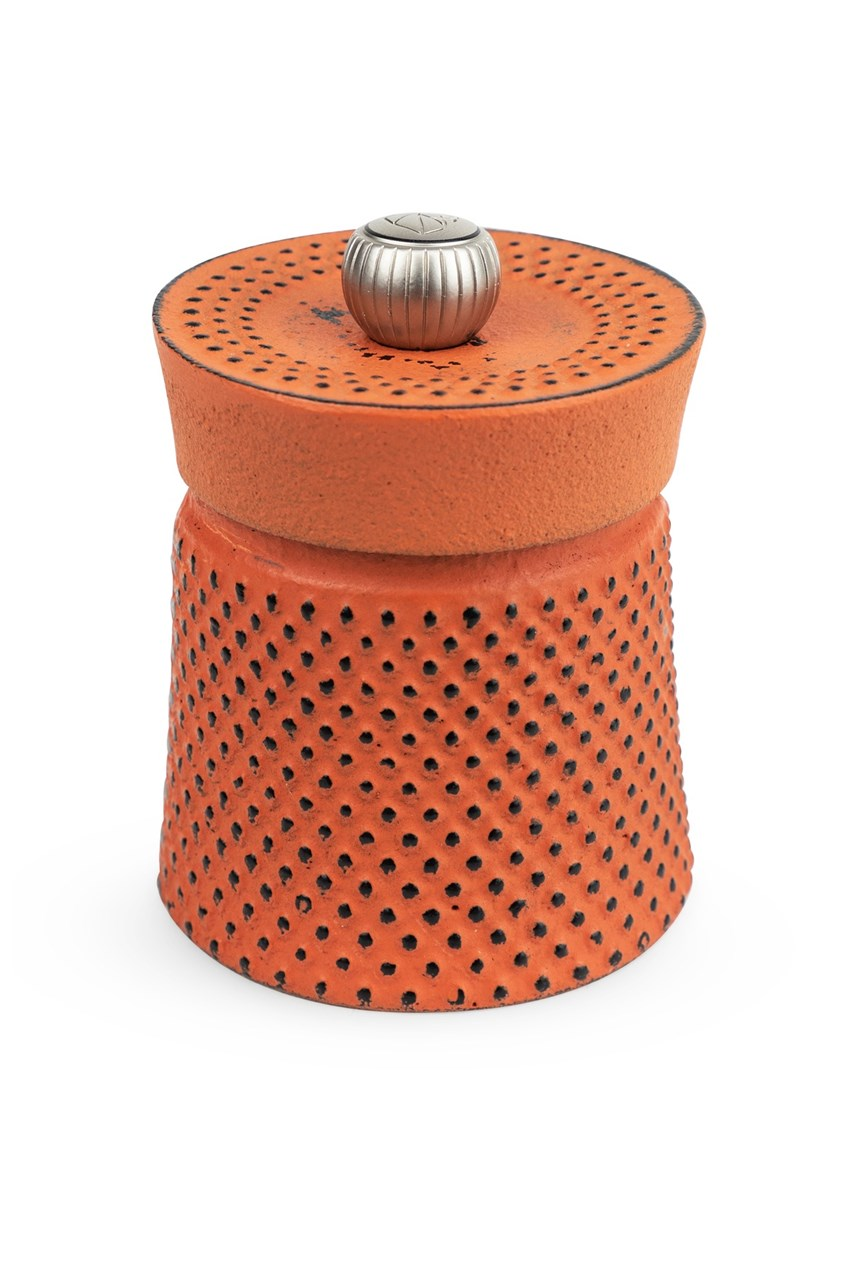 Bali Cast Iron Pepper Mill - Orange