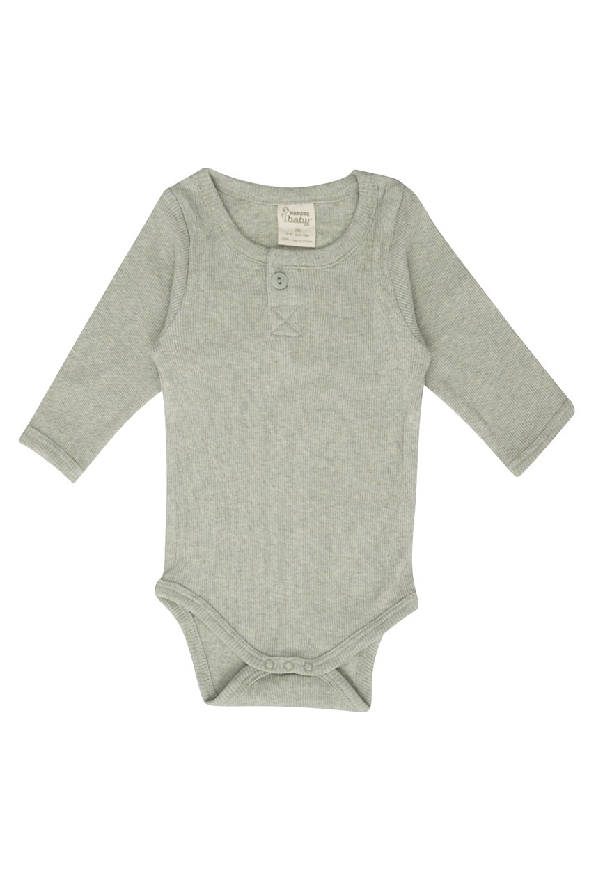 Cotton Rib Long Sleeve Bodysuit