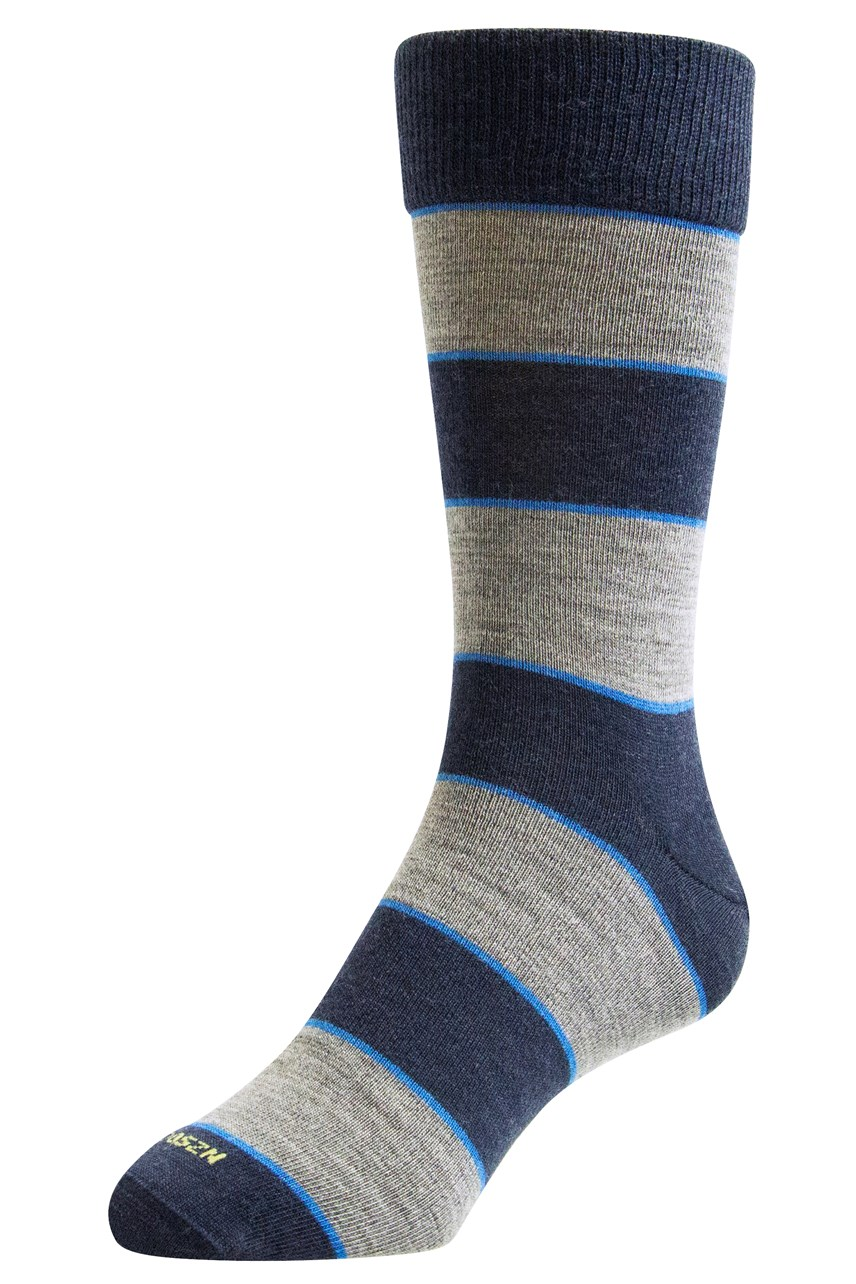 Merino Thick Stripe Dress Sock