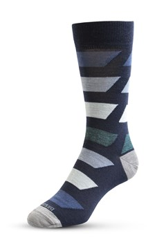 Bolted Colour Sock 747 NAVY 1