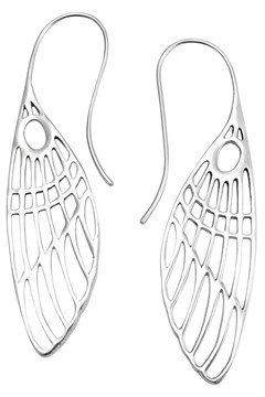 Dragonfly Wing Earrings SILVER 1