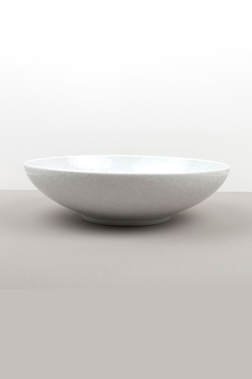 White Blossom Open Serving Bowl