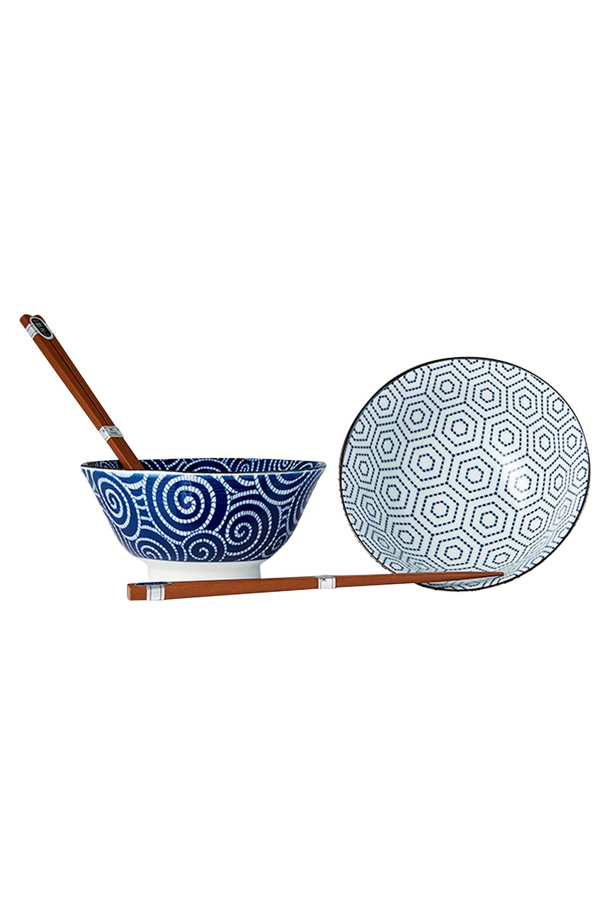 Blue Bowl & Chopstick Boxed Set