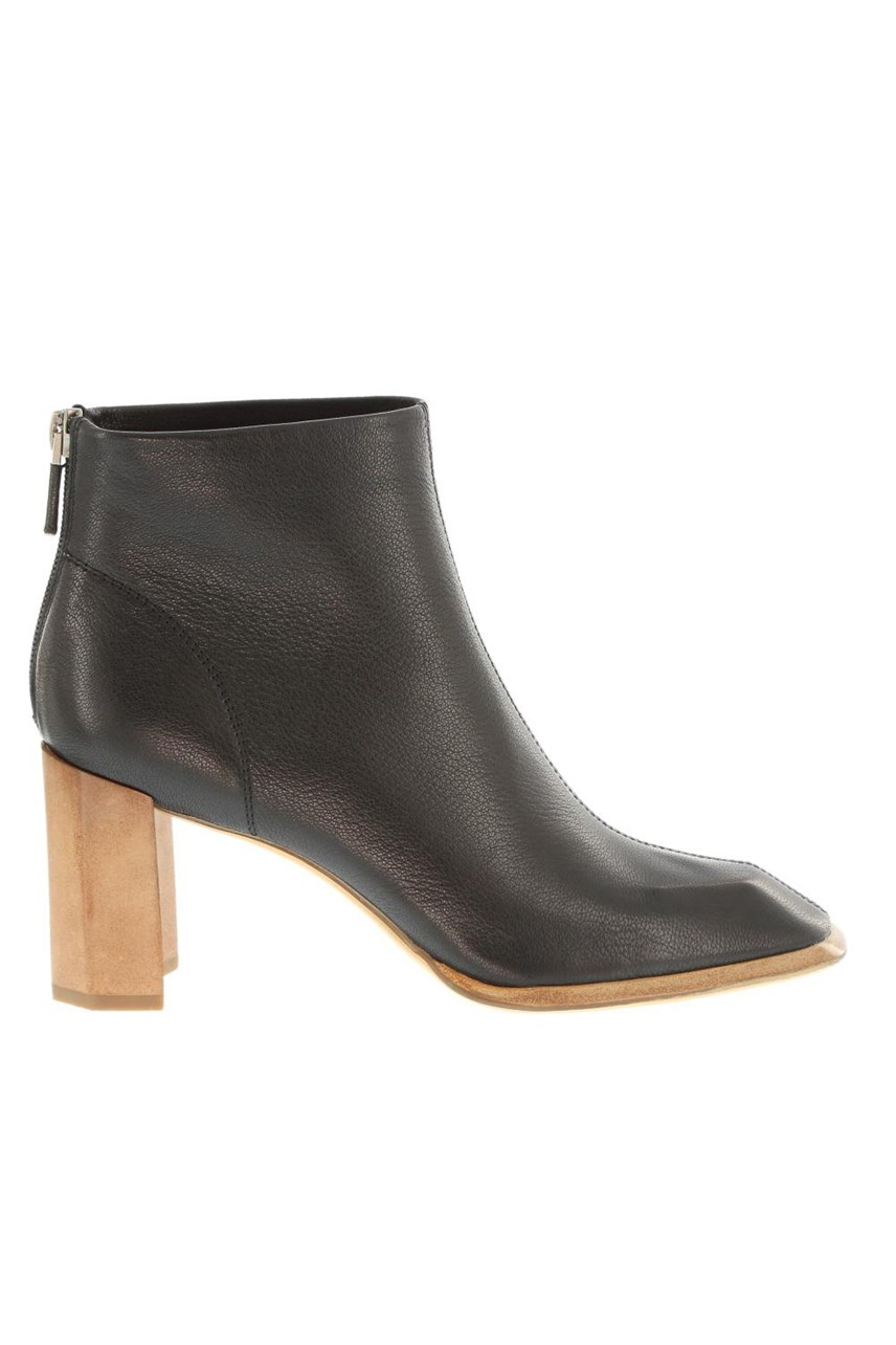 Ankle Boot with Contrast Heel