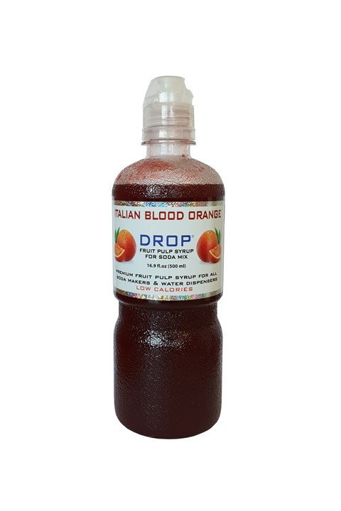Drop Italian Blood Orange Soda Syrup - 500mL - blood orange