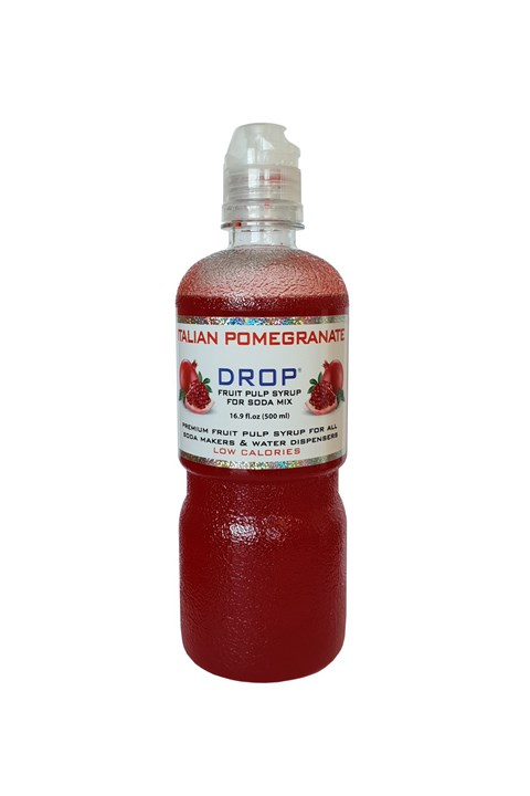 Drop Italian Pomegranate Fruit Pulp Soda Syrup - 500mL - pomegranate
