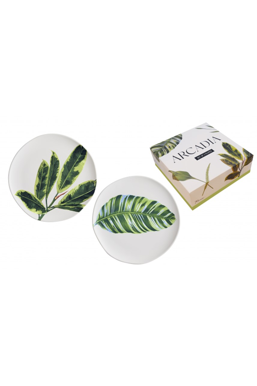 Arcadia Leaf Plates Set Of 2