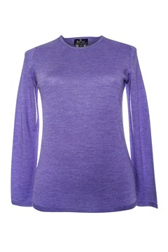 Long Sleeve Classic Crew Neck Jumper - amethyst