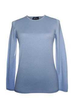 Long Sleeve Classic Crew Neck Jumper - cool blue